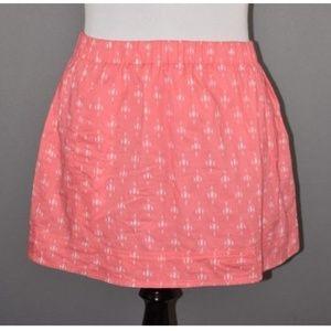 J.Crew Geometric Cotton Printed Cotton Skirt
